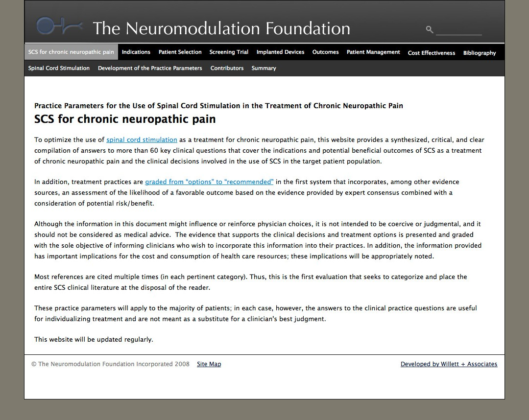 Neuromodulation Site Launched